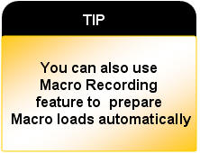 use macro recording feature in Data Loader